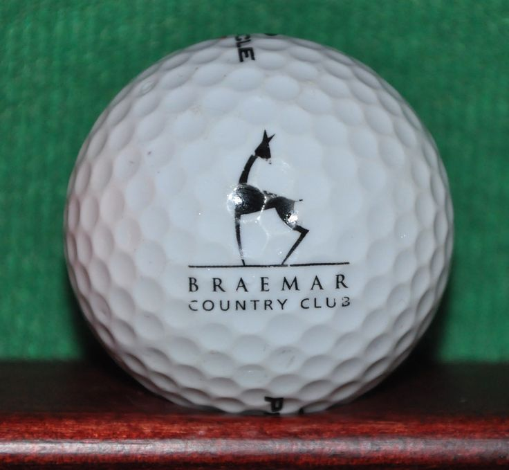 Braemar Country Club Tarzana California Logo Golf Ball