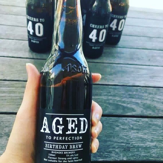 Customised beer labels - Cheers to 40. Cheers to perfection! 🍻What I really like about these labels is you can find little things about the birthday guy, all specially written by the lady! Don't just drink it, read it. #sgbirthdayparty #sgbirthday #sgbeer #stickerlicioussg #custombeerlabels