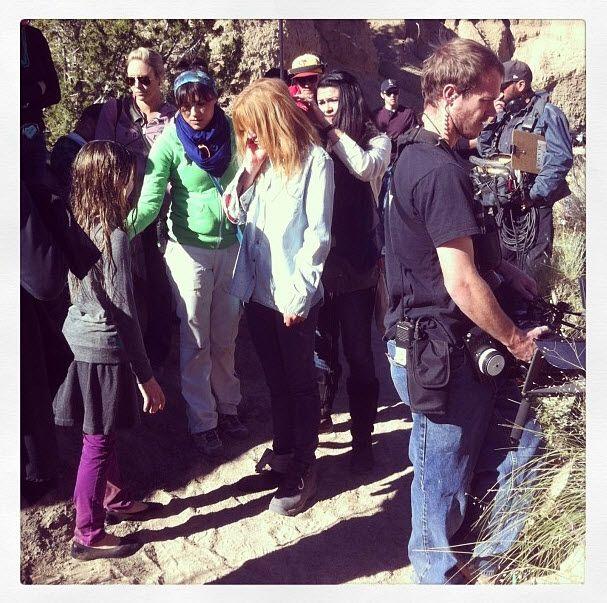 """Bella Thorne """"Big Sky"""" Filming October 23, 2013"""