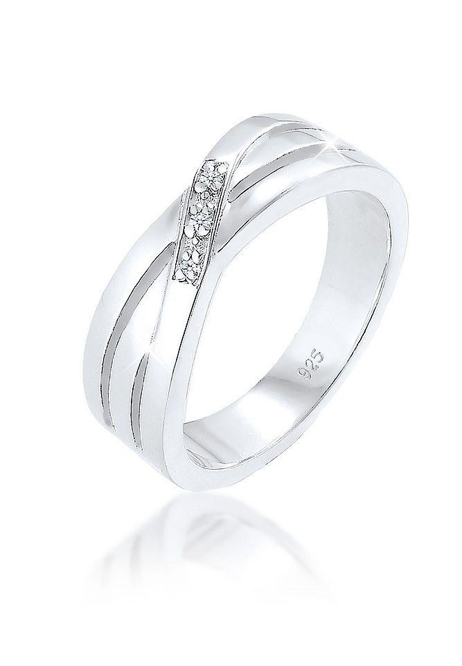 Diamore Ring »Cross Over Verlobung Diamant 0.03 ct. 925 Silber« Jetzt bestellen unter: https://mode.ladendirekt.de/damen/schmuck/ringe/silberringe/?uid=a8413774-2e80-5e05-a0bb-a626222ca818&utm_source=pinterest&utm_medium=pin&utm_campaign=boards #schmuck #ringe #keine #silberringe Bild Quelle: baur.de