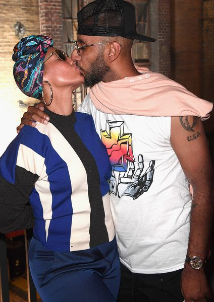 Alicia Keys Photos Photos - Swizz Beatz and Alicia Keys pose at Bacardi X The Dean Collection Present: No Commission on June 30, 2017 in Berlin, Germany. - The Dean Collection X Bacardi Bring Innovative Art And Music Experience To Berlin - Day 2