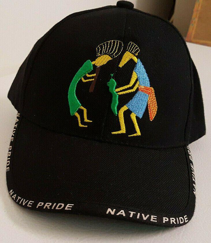 5f4916ce3 Native Pride Embroidered Cap/Hat. Kokopelli-like Characters. New w/o ...