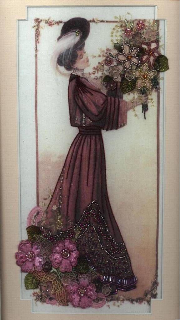 embellished silk print