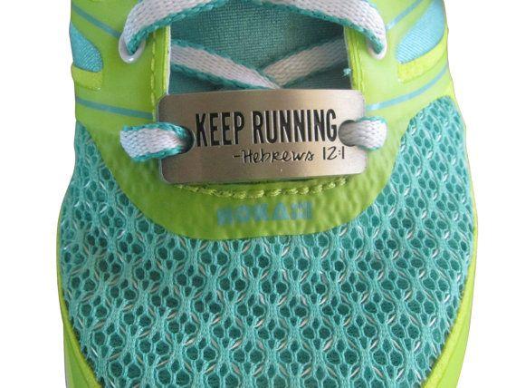 running shoe charm  inspirational running by runningonthewall