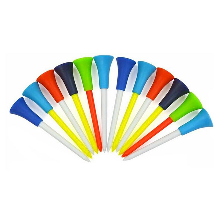 50pcs Multicolor Plastic Golf Tees