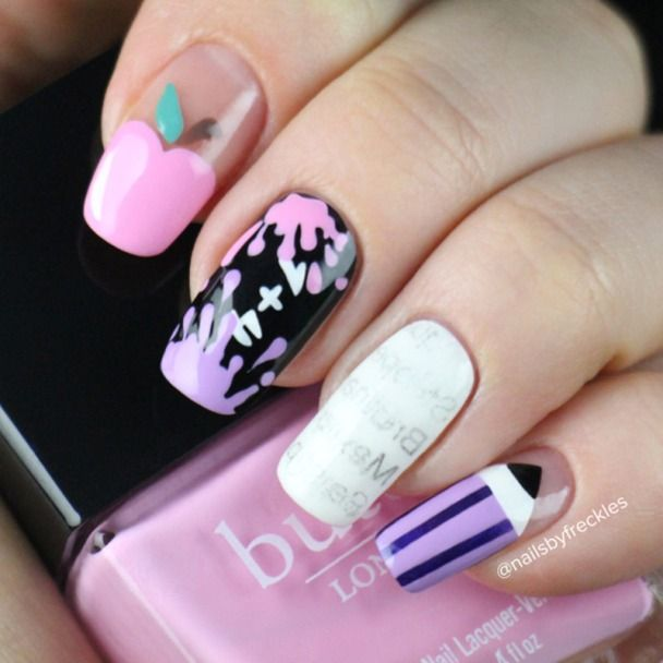 3524 best nail art images on pinterest nail scissors nail 37 super cute back to school nail art designs prinsesfo Gallery