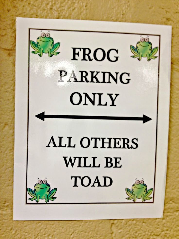 FROG Fully Rely On God- Frog parking all others will be toad (towed) free printable