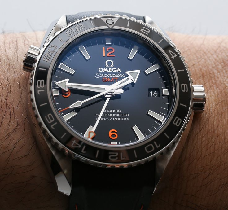 Omega Seamaster Planet Ocean GMT Watch Review   wrist time watch reviews