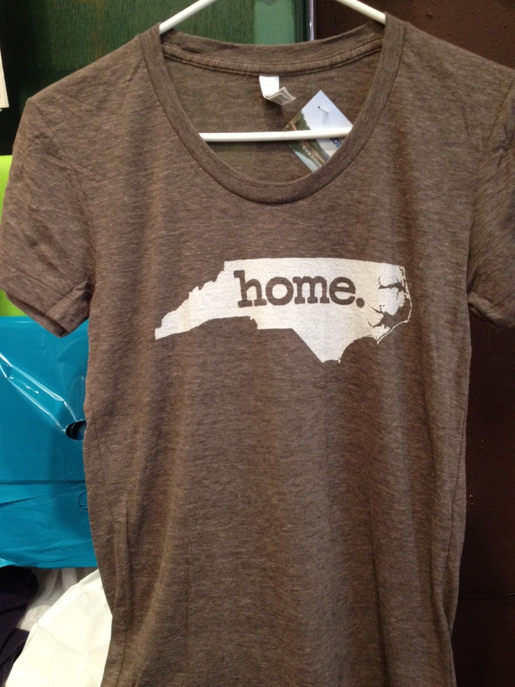Coffee colored NC Home tshirts! $24   ($29 with shipping). Shown here, the female cut. We have men's too!