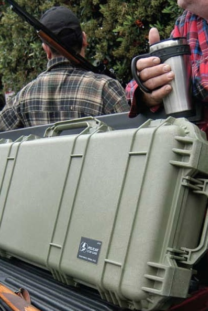 A Pelican rifle case is a must-have for your next hunting trip.