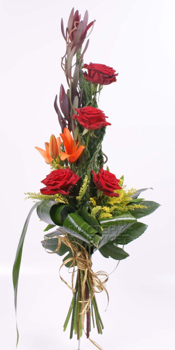 Магазины, образцы букет из живых цветов для мужчины