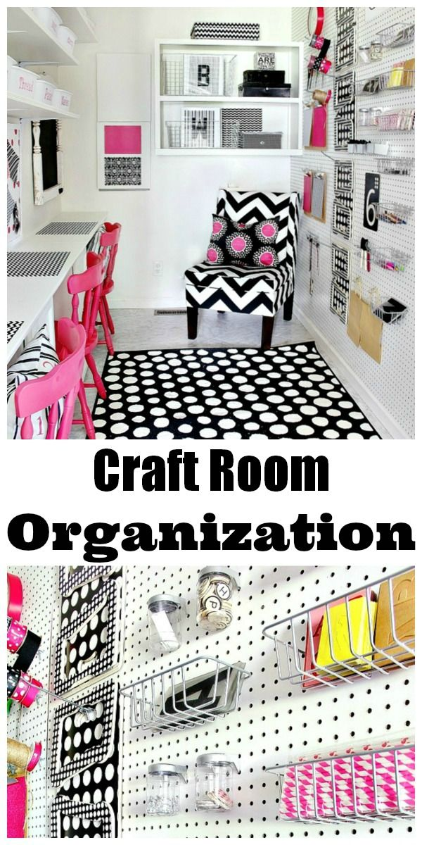 Craft Room Organization... vibrant colors and simple ideas for getting all those craft supplies under control! via www.thistlewoodfarms.com #CraftRoom #Organization