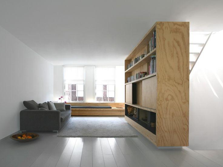 Floating white oak bookshelf_medi cabinet_i29 interior architects | home 01