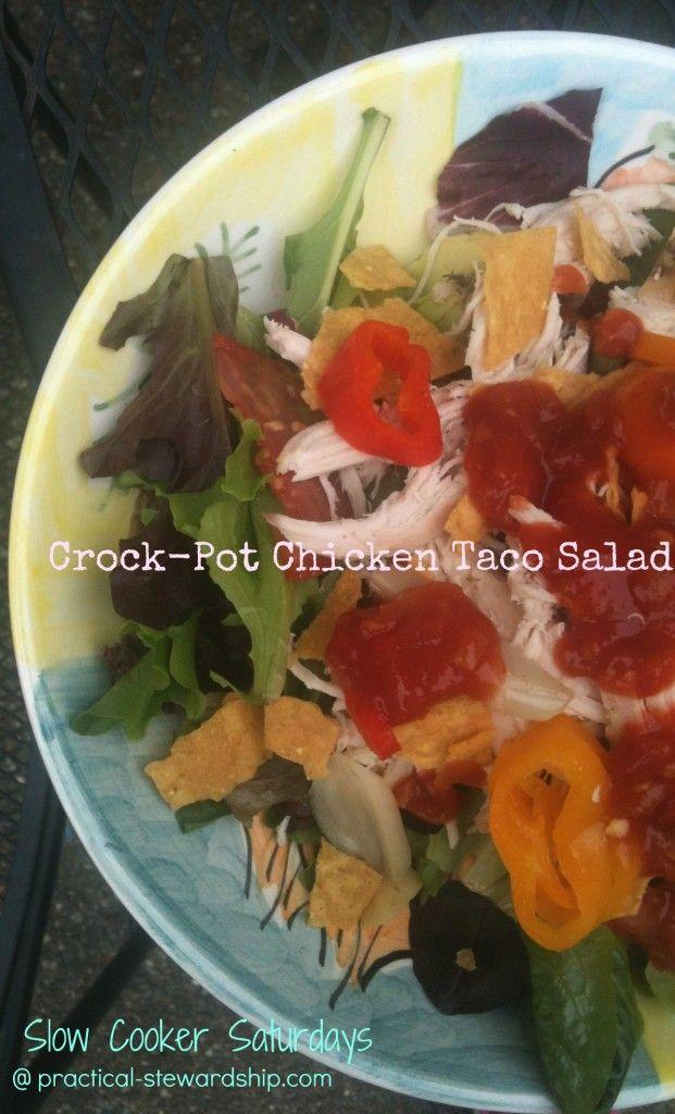 EASY Crock-Pot Chicken Taco Salad