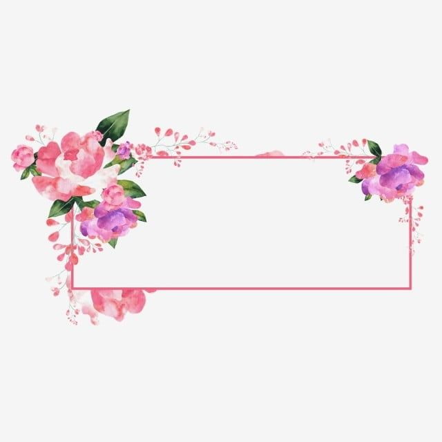 Watercolor Floral Flowers Border Design Png Free Download Border Clipart Frame Green Png And Vector With Transparent Background For Free Download Flower Graphic Design Flower Background Wallpaper Floral Border Design