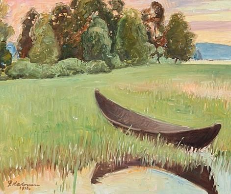 Pekka Halonen, Summer Evening By The Shore, 1918, The Life and Art of Pekka Halonen - from http://www.alternativefinland.com/art-pekka-halonen/