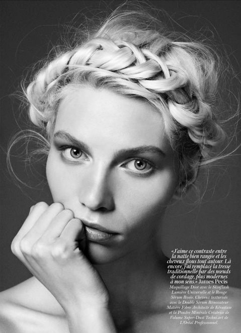 Aline Weber by Giampaolo Sgura for Vogue Paris February 2012: Milkmaid Braid, Vogueparis, Hairstyles, Vogue Paris, Beautiful, Aline Weber, Hair Style, Braids Crowns, Crowns Braids