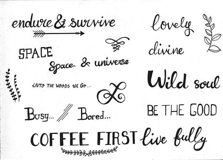 Calligraphic tryouts