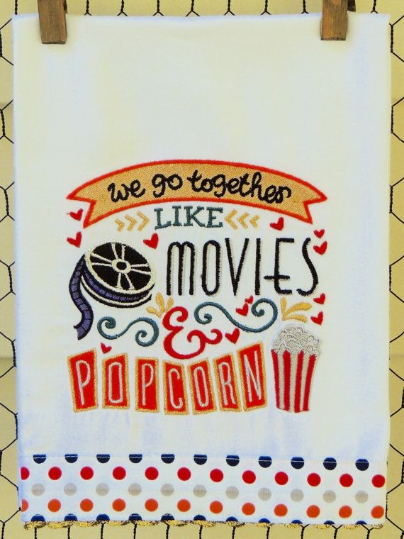 We Go Together Like Movies & Popcorn by seechriscreate on Etsy