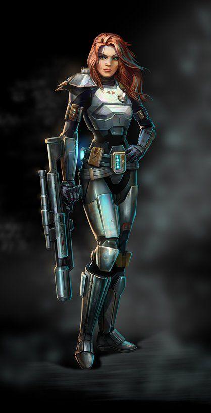 star wars female bounty hunters | Star Wars Old Republic