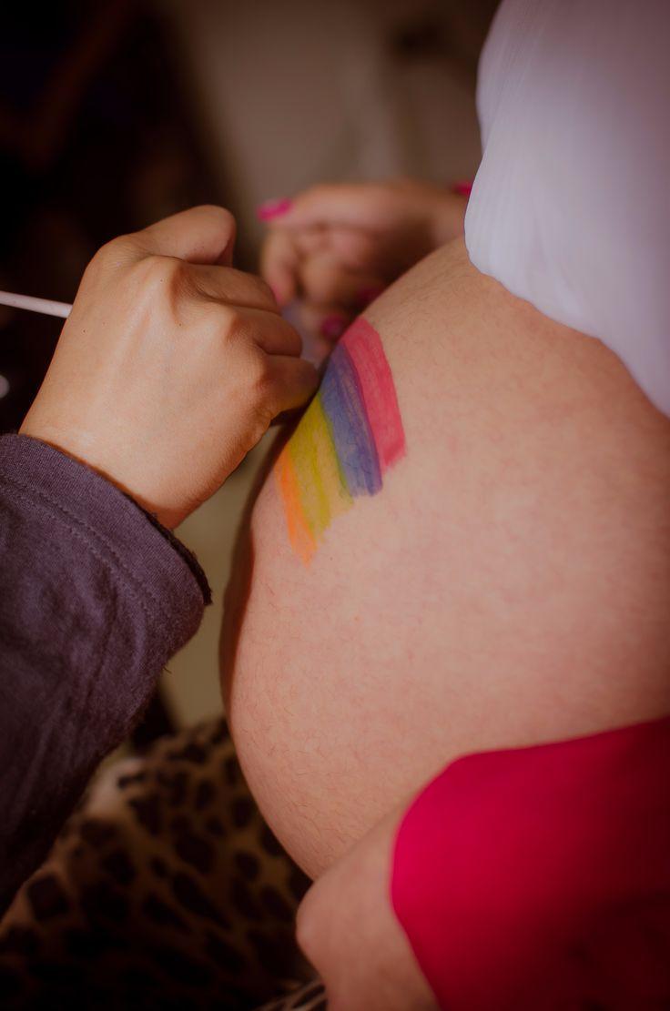 Pintando Barriguita futura mama