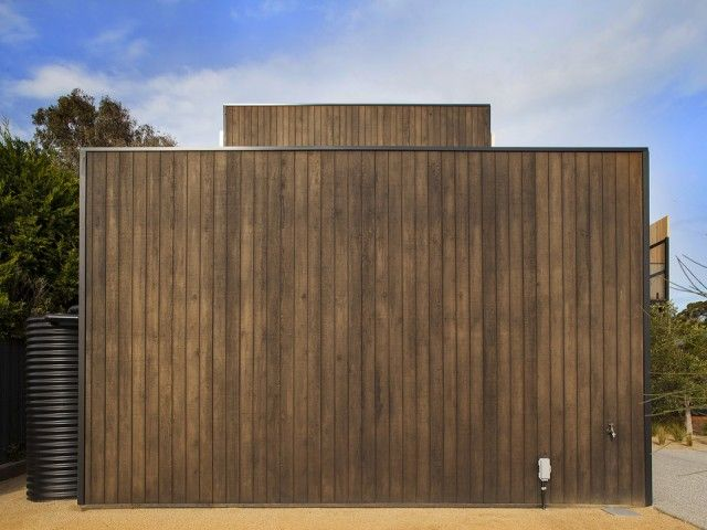 Weathertex's Natural Range of unprimed natural timber cladding panels retain the appearance of raw, undressed timber.