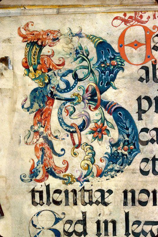 Bibliothèque municipale de Dijon - ms. 2974, f. 002v Psautier-hymnaire / Initiale ornée « cliché CNRS - IRHT »