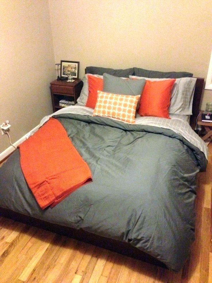 Orange And Grey Comforter Sets, Gray And Orange Bedding
