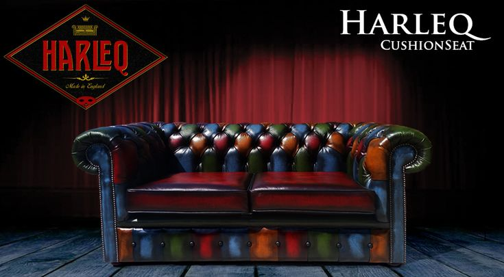 patchwork chesterfield sofa leather