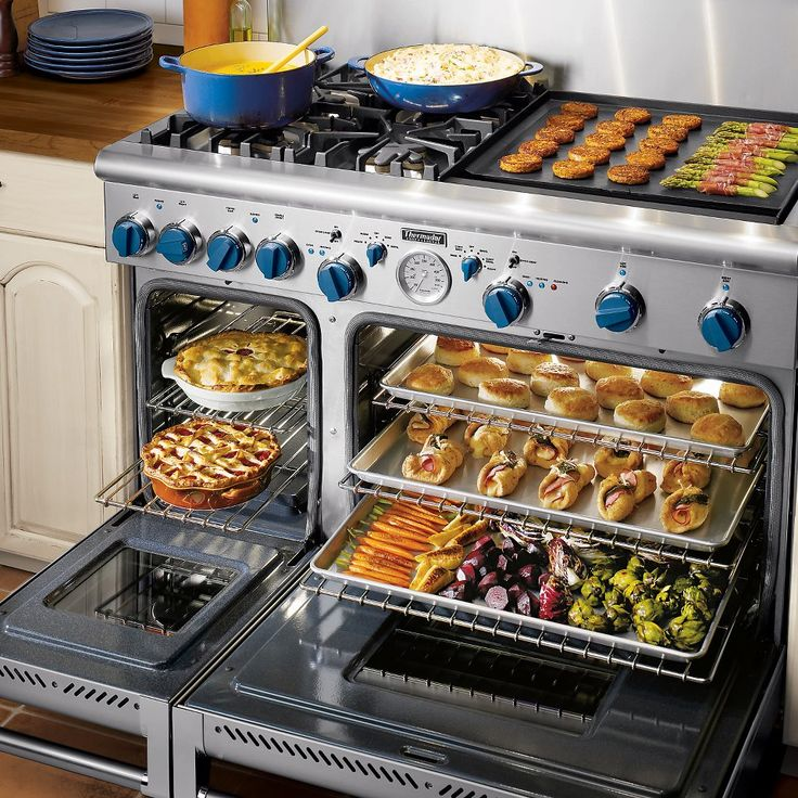 """our 36"""" and 48"""" Professional Series Ranges offer a maximum capacity of 5.7 cubic feet. Enough space to cook for even the largest of gatherings, effortlessly. Spend more time toasting, and less time cooking. Find out about how to save on these time saving appliances by visiting us at http://www.thermador.ca/about/promotions"""