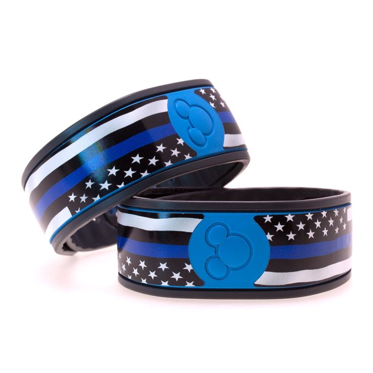 Thin Blue Line Flag MagicBand Skin