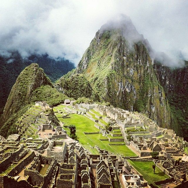 Machu Picchu, the lost city of the Incas, was built around 1450, remained undiscovered during the Spanish conquest, and lay abandoned until 1911, when American historian Hiram Bingham was led there by locals. #peru #machupicchu #inkatrail