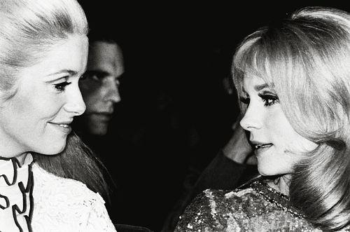 Catherine Deneuve & Françoise Dorléac. Catherine Deneuve with sister Françoise Dorléac reading. Dorléac (1942-1967) was the elder sister of the better-known Deneuve. The two sisters starred together in the 1967 musical, Les Demoiselles de Rochefort. She was made famous by Philippe de Broca's movie L'homme de Rio, François Truffaut's La Peau Douce and Roman Polanski's Cul-de-sac, but her career was cut short by her tragic death in a car crash.