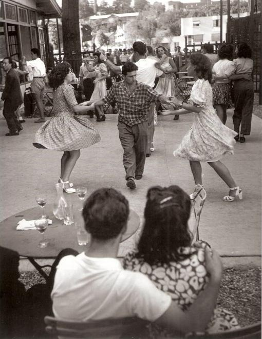 rockabilly jive... oh.. skirts are swirling