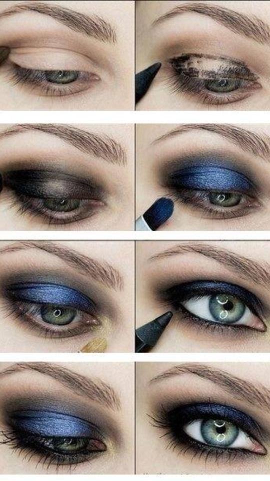 Augen Make Up Zu Blauem Kleid Augen Augenmakeup Blauem Kleid