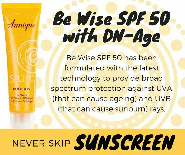 Be Wise SPF 50 with DN-Age The light, non-irritating cream can be used to prevent premature ageing, as sun exposure is one of the main causes of skin damage and ageing. Suncreen protection.