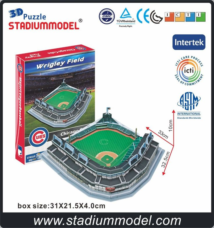 MajorLeagueBaseball MLB Chicago Cubs Home Wrigley Field Stadium 3D Puzzle Model Paper