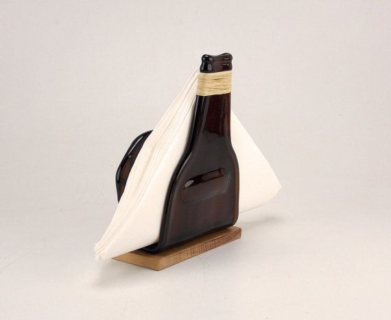 Hey, I found this really awesome Etsy listing at http://www.etsy.com/listing/153000402/slumped-amber-beer-bottle-napkins-holder