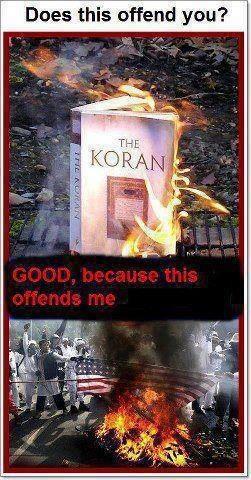 Flag burning, Islam, Muslim, media bias, democrats, Obama, terrorism, jihad - They all offend me!!  <<<  >>>     Brûler le drapeau, l'islam, les musulmans, la partialité des médias, les démocrates, Obama, le terrorisme, le djihad - Tout cela  me blesse !!