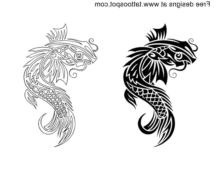 Tribal koi fish tattoo designs koi tribal tattoos designs for Cool koi fish