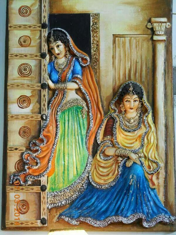 17 best images about indian art and craft on pinterest for 3d mural painting tutorial
