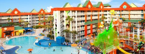 Nickelodeon Suites Resort in Orlando, Florida really caters to the kids!