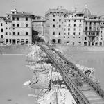 Bailey bridge over the River Arno in Florence, 15 August 1944.