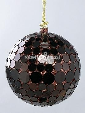 Christmas balls and glitter mirror
