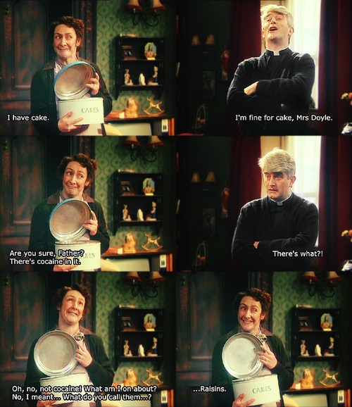 Mrs. Doyle!  Father Ted - one of the funniest shows I have ever seen