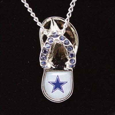 Dallas Cowboys Crystal Flip Flop Necklace