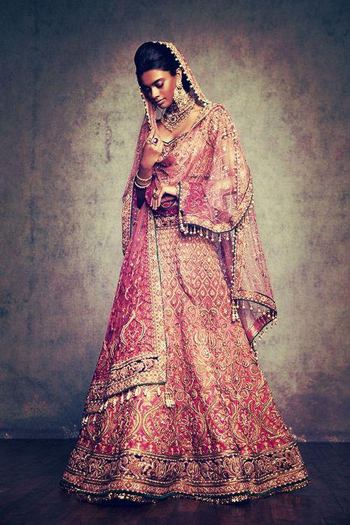 indian fashion. tarun tahiliani. bridal. Indian bridal wear. Indian bride. South Asian desi bridal fashion. Indian couture. PINK.