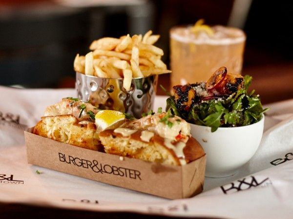 The lobster roll at Burger & Lobster. Photo supplied.