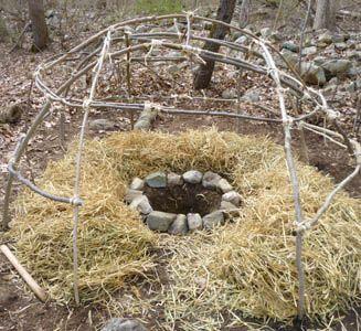 how to build a teepee sweat lodge