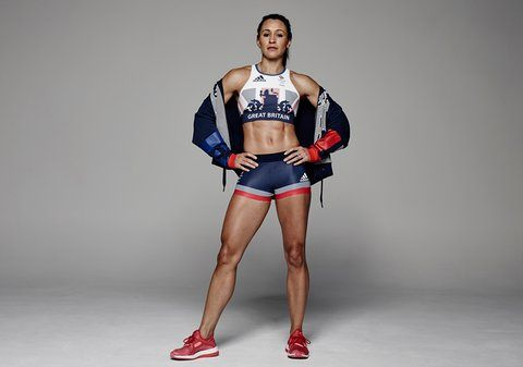 Jessica Ennis-Hill gets her kit on for the British team for the Rio Olympics